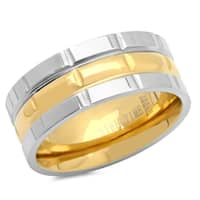 Two Tone Stainless Steel Ring in 4 sizes