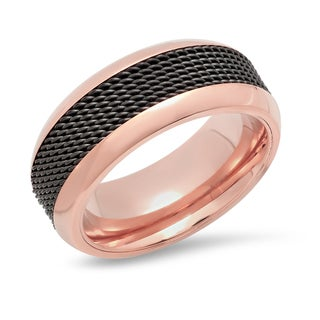 Stainless Steel Black Inlay Ring in 2 colors