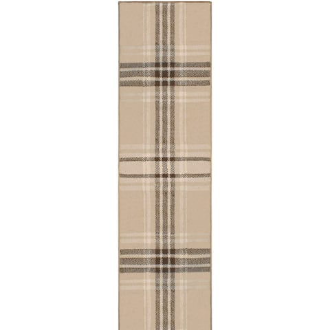 "Superior Designer Tartan Area Rug Collection - 2'6"" x 8'"