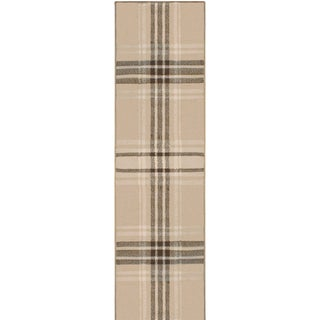 "Superior Designer Tartan Area Rug Collection (2'7"" X 8')"