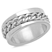 Stainless Steel and Chain Link Ring