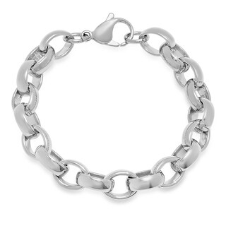 Piatella Ladies Stainless Steel Chain Link Bracelet in 2 colors