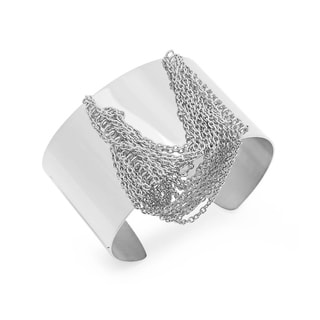 Stainless Steel Chain Drop Cuff Bracelet in 3 colors