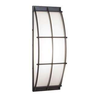 Access Lighting Tyro 1-light Fluorescent Bronze Outdoor Wall Sconce with Opal Glass