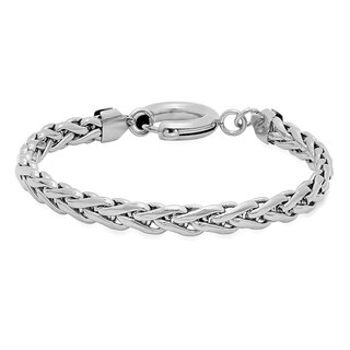 Stainless Steel Wheat Link Bracelet in 2 colors