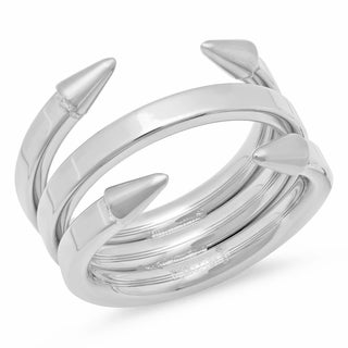 Stainless Steel Arrow Layered Ring in 3 colors (Option: Rose)