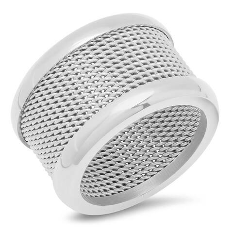 Piatella Ladies Stainless Steel Mesh Band Ring in 3 colors