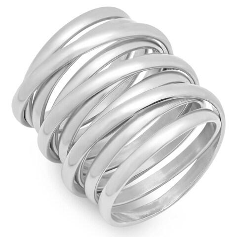 Piatella Ladies Stainless Steel Multiwrap Ring in 3 colors