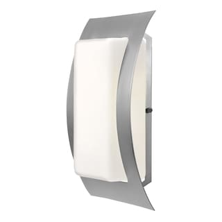 Access Lighting Eclipse 1-light Fluorescent Satin Outdoor Wall Scone with Opal Glass