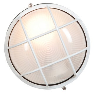 Access Lighting Nauticus 1-light Fluorescent 7-inch White Outdoor Bulkhead with Frosted Glass