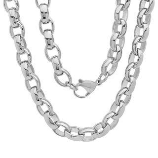 Stainless Steel Chain Link Necklace in 2 colors