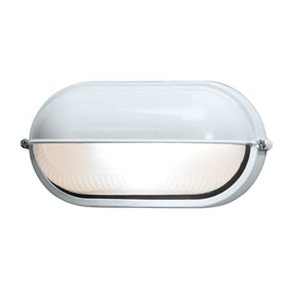 Access Lighting Nauticus 1-light Fluorescent 9-inch White Outdoor Bulkhead with Frosted Glass