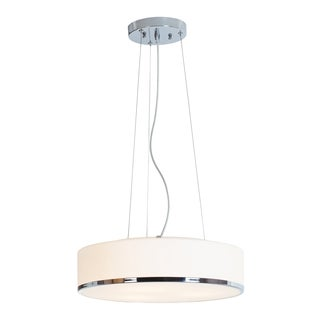 Access Lighting Aero 2-light Fluorescent Chrome Pendant with Opal Glass