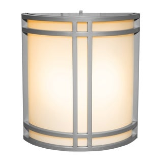 Access Lighting Artemis 2-light Fluorescent Satin Outdoor Wall Sconce with Opal Glass