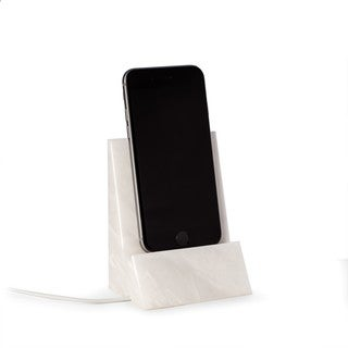 White Marble Desktop Phone Cradle