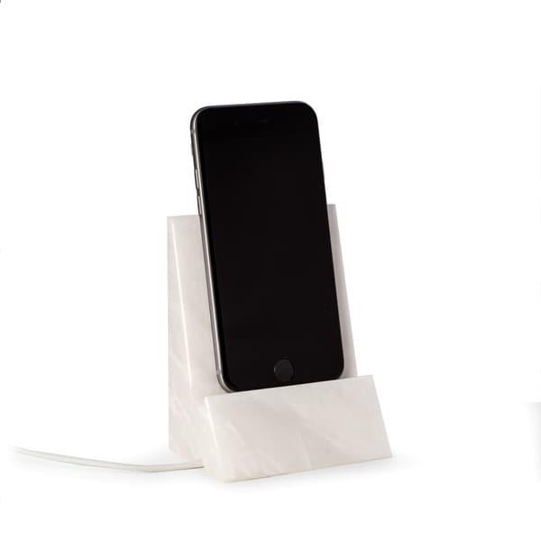 White Marble Desktop Phone Cradle