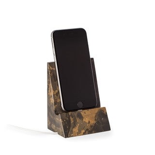Brown Marble Desktop Phone Cradle