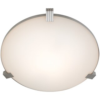 Access Lighting Luna 1-light Halogen Brushed Steel Flush Mount with White Glass