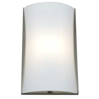Access Lighting Radon 2-light Fluorescent Brushed Steel Wall Sconce with Opal Glass