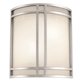 Access Lighting Artemis 2-light Satin Wall Sconce with Opal Glass