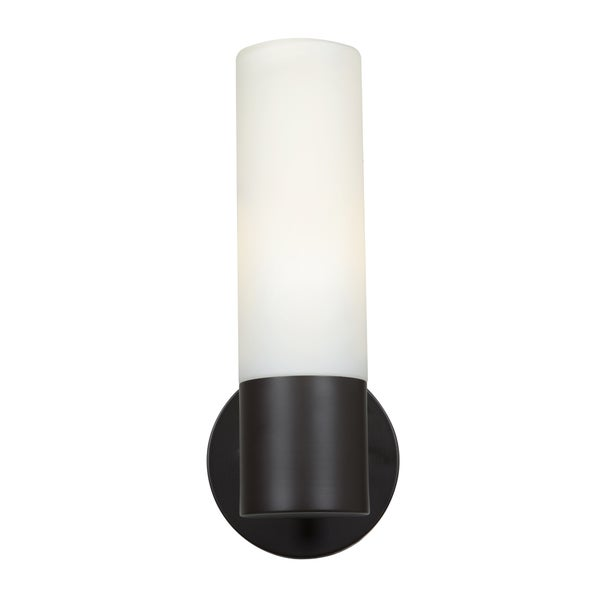 Access Lighting Eos 1 Light Bronze Wall Sconce With Opal Gl