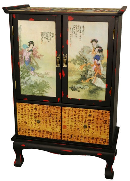 Beauty in the Garden Two-door Cabinet (China)