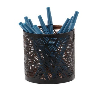 Modish Black Pencil Can Holder Metal