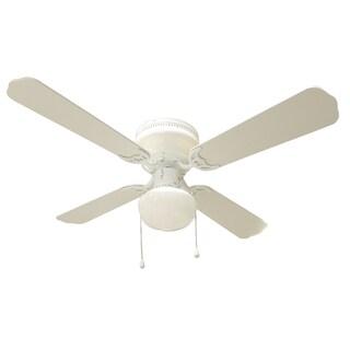 Bingo White 42-inch 1-light Ceiling Fan