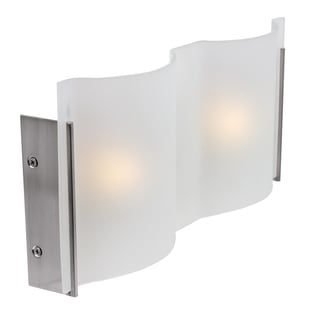 Access Lighting Mercury 2-light Halogen Brushed Steel Vanity with Frosted Glass