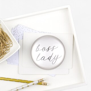 Boss Lady Domed Glass Paperweight