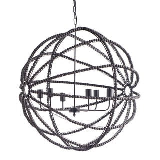 Mercana 'Ava' Black Wood Ceiling Fixture