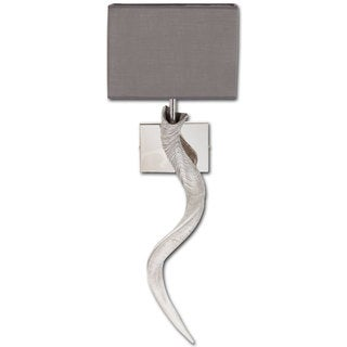 Mercana Shandi White Resin/Chrome Sconce