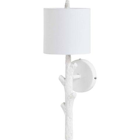 Mercana Sabinal II White Resin Wall Sconce