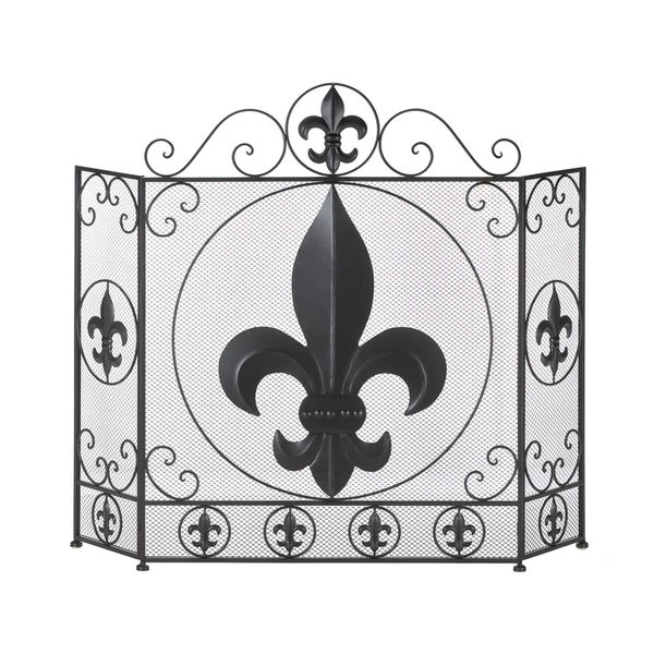koehler home decor reviews shop koehler home decor fleur de lis fireplace screen 11629