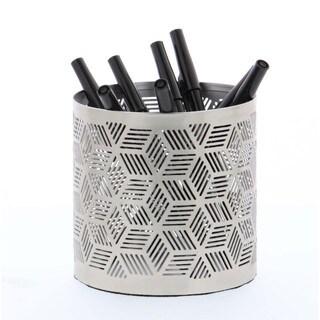 Elegant Pencil Can Holder Silver