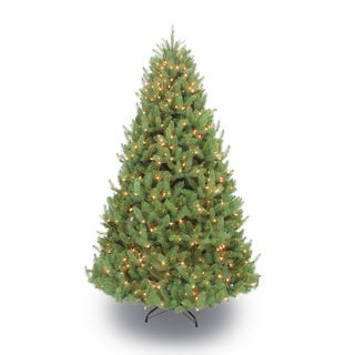 Puleo International Prelit Colorado Spruce Green Artificial 7.5-foot Christmas Tree With 800 Clear UL Listed Lights