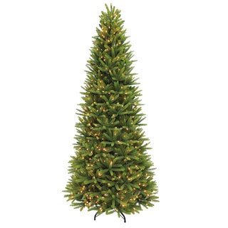 Puleo International Green 9-foot Pre Lit Slim Washington Valley Spruce Artificial Christmas Tree