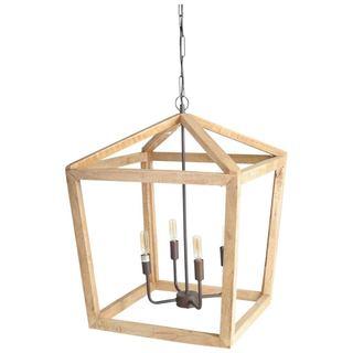 Mercana Danforth Brown Wood Ceiling Fixture