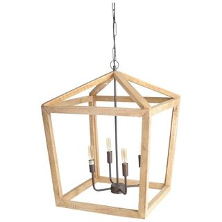 Mercana Danforth Brown Wood Ceiling Fixture