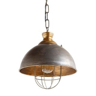 Mercana Dawson I Brass Finish Metal Pendant Light