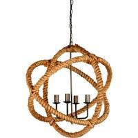 Mercana Amberg Tan Rope Ceiling Fixture