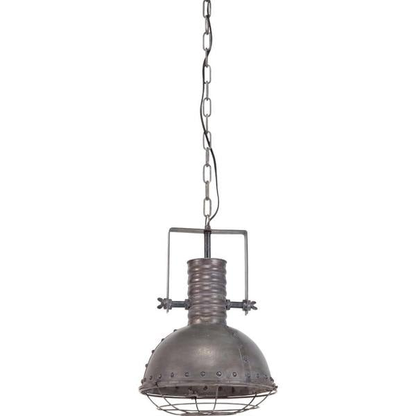 Shop Mercana Zaio Grey Metal Industrial Pendant Light