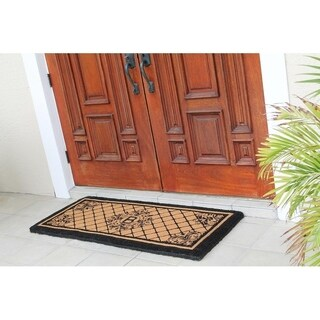 A1HC First Impression Hand Crafted Royal Estate 24 Inch. X 57 Inch. Entry Monogrammed Double Doormat