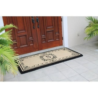 A1HC First Impression Estate Extra-thick Anti-shred Monogrammed Double Doormat (36 Inch x 72 Inch)