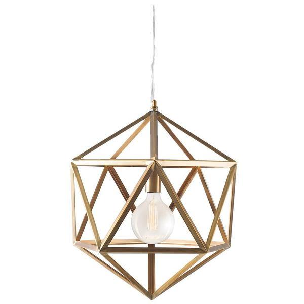 Mercana Levisa Goldtone Metal Pendant Light