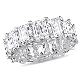 Miadora Signature Collection 18k White Gold 14-1/10ct TDW Emerald-Cut Diamond Eternity Band (GIA Cer|https://ak1.ostkcdn.com/images/products/16732385/P23045597.jpg?impolicy=medium