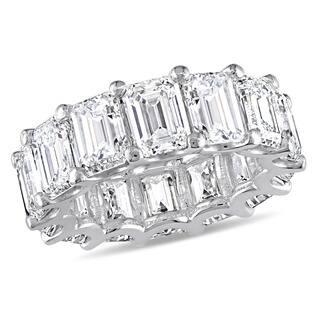 Miadora Signature Collection 18k White Gold 14 1 10ct TDW Emerald Cut Diamond