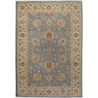 bc8d13e8f59b Arshs Fine Rugs Kafkaz Peshawar Edwardo Blue  Ivory Wool Hand-knotted Area  Rug -