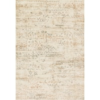 Distressed Antique Cream Vintage Inspired Rug - 6'7 x 9'2