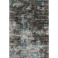 Augustus Charcoal/ Blue Rug - 2'7 x 3'9